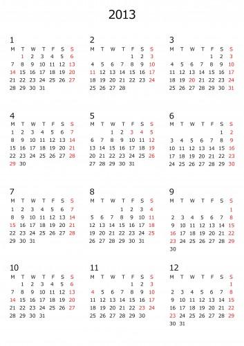 カレンダー カレンダー 印刷 卓上 : でした | 印刷、WEB用カレンダー ...
